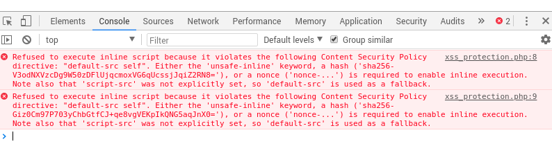 csp chrome error